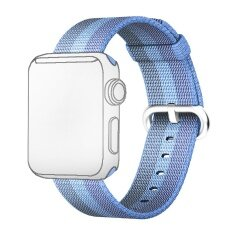 ขาย Fashion Colored Woven Nylon Fabric Replacement Band Strap Bracelet Wrist Belt For Apple Watch Iwatch 42Mm Lake Blue Intl ใหม่