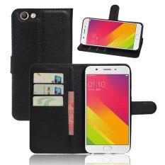 ราคา Fashion Flip Leather Wallet Case Cover For Oppo F1S Black Intl จีน