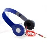 Fashion Folding Stereo Headphone Heavy Deep Bass Earphone 3 5Mm Game Headset Blue Intl ใน จีน