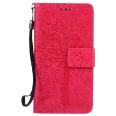 Fashion Tree Protective Stand Wallet Purse Credit Card Id Holders Magnetic Flip Folio Tpu Soft Bumper Pu Leather Ultra Slim Fit Case Cover For Samsung Galaxy A5 A500 A5 2015 Intl ถูก