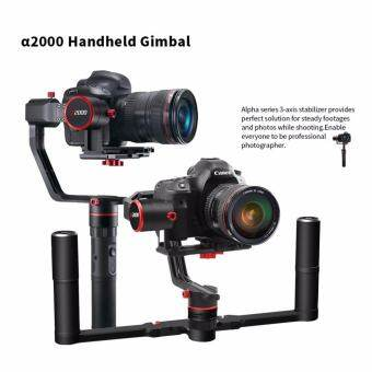 Feiyu a2000 3-Axis Handheld Gimbal for Mirrorless and DSLR Cameras, 250-2000g Capacity - With Feiyu Dual Handle Holder System for a2000 Gimbal