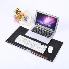 ซื้อ Felts Office Desk Laptop Mat Storage Organizer Table Pad New Dark Gray Intl ออนไลน์ จีน