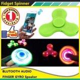 ขาย Fidget Hand Spinner With Bluetooth Speaker Led Light สปินเนอร์ ลำโพงบลูทูธ ไฟLed ชาร์จไฟในตัว Fidget Spinner เป็นต้นฉบับ