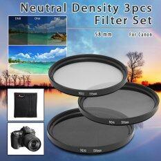 ราคา Xcsource 3ชิ้น 58มมเป็นกลางความหนาแน่น Nd2 Nd4 Nd8 Nd 2 4 8Nกรองเซ็ต 58มมสำหรับ Canon Lf62 Intl ใหม่ล่าสุด