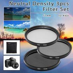 ขาย ฟิลเตอร์เลนส์ 3 ชิ้น 52Mm Nd2 Nd4 Nd8 Nd 2 4 8 Neutral Density Lens Filter Set สำหรับ Nikon ออนไลน์ ฮ่องกง