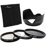 ขาย ฟิลเตอร์เลนส์ 3 ชิ้น Uv Cpl Nd4 Filter Lens Hood 62Mm สำหรับ Canon 6D 7D 60D 70D 700D 1100D ผู้ค้าส่ง