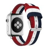 ขาย Fine Woven Nylon Adjustable Replacement Band Sport Strap For Apple Watch 42Mm Intl เป็นต้นฉบับ