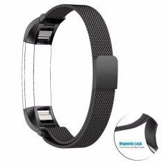 Fitbit Alta / HR สายสำรองคุณภาพสูง Milanese Loop สีดำสเปซแบล็ค ขนาด Large