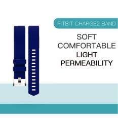 สายสำหรับ Fitbit Charge 2 สีน้ำเงิน