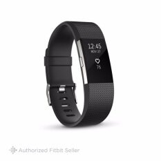 FITBIT CHARGE 2 BLACK SILVER LARGE