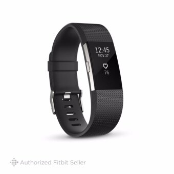 FITBIT CHARGE 2 BLACK SILVER SMALL