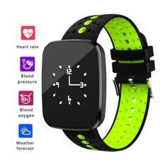 ติดตามออกกำลังกายด้วยการตรวจสอบอัตราการเต้นหัวใจติดตามกิจกรรมสมาร์ทนาฬิกาที่มีการตรวจสอบการนอนหลับ, IP67 เดินเท้ากันน้ำพร้อมสายเรียกเข้า/SMS เตือนสำหรับ iOS/สมาร์ทโฟน
