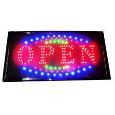 ซื้อ Flashing Colour Led Open Shop Sign Neon Display Window Hanging Intl ออนไลน์ ถูก