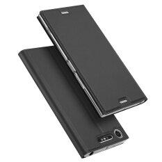 ราคา Flip Leather Case Slim Book Design Magnetic Protective Stand Cover For Sony Xperia Xz1 Compact Dark Grey Intl ใหม่ ถูก