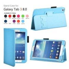 เคสหนังเทียมหนังปกคลุมด้วยการนอนหลับอัตโนมัติ/ปลุกสำหรับ Samsung Galaxy Tab 3 8.0 นิ้วแท็บเล็ต t3100 - นานาชาติ