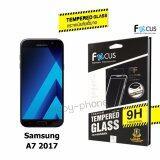 Focus ฟิล์มกระจกนิรภัย Full Frame Tempered Glass For Samsung Galaxy A7 2017 เต็มจอ สีดำ ใหม่ล่าสุด