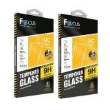 ราคา Focus ฟิล์มกระจกนิรภัยโฟกัส Huawei P8 Lite แบบใสปกติ Tempered Glass แพคคู่ ราคาถูกที่สุด