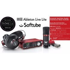 Focusrite อุปกรณ์บันทึกเสียง สตูดิโอ - Scarlett 2i2 Studio (2nd Gen) Audio Interface ครบเซ็ต