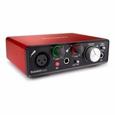 Focusrite Scarlett Solo (2nd Gen) USB Audio Interface with Pro Tools อุปกรณ์บันทึกเสียง ออดิโอ อินเตอร์เฟส ขนาดพกพา รับประกันศูนย์ 1 ปี