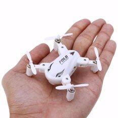 โดรน จิ๋ว พับปีกได้  Fold Drone Sy X31 Mini สีขาว.