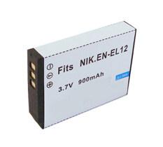 แบตเตอรี่กล้อง รหัส EN-EL12 ENEL12 แบตกล้องนิคอน Nikon Coolpix S70, S710, S800c, S9600, S9700, S9900 ... Replacement Battery for Nikon