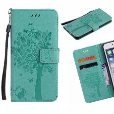 ซื้อ For Apple Iphone 6 Plus 6S Plus Phone Case Pu Leather Cellphone Case Stent Wallet Flip Case Lucky Wishing Tree Intl ออนไลน์ ถูก
