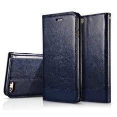 ส่วนลด สินค้า สำหรับ Apple Iphone 6 Plus 6S Plus บูธรองรับ เสียบบัตร พลิกสอยเย็บแผ่นหนัง Pu ฝาแม่เหล็กโทรศัพท์กระเป๋าสตางค์กระเป๋า