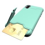 ซื้อ For Apple Iphone X Case Card Brush 2In1 Pc Tpu Hybrid Back Armor Cover With Cryptic Card Storage Slot Cell Phone Case Intl ออนไลน์