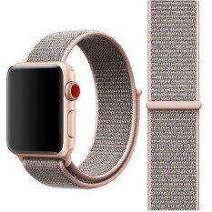 ซื้อ For Apple Watch Series 3 And 2 And 1 38Mm Simple Fashion Nylon Watch Strap With Magic Stick Pink Intl ถูก ฮ่องกง