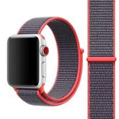 ซื้อ For Apple Watch Series 3 And 2 And 1 42Mm Simple Fashion Nylon Watch Strap With Magic Stick Magenta Intl Sunsky ถูก