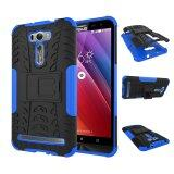 For Asus Zenfone 2 Laser Case Ze601Kl 6 Case Heavy Duty Rugged Hybrid Dual Layer Kickstand Shockproof Protective Case Cover For Zenfone 2 Laser 6 Inch Blue Intl ใน จีน