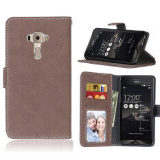 ขาย For Asus Zenfone 3 Ze552Kl 5 5Inch Vintage Retro Matte Wallet Flip Cover Pu Leather Mobile Phone Bags Protective Case With Card Slots Stand Holder Photo Frame Unbranded Generic ถูก