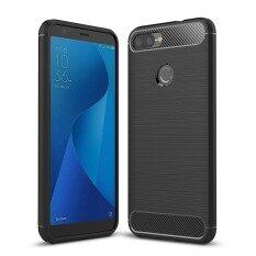 ซื้อ For Asus Zenfone Max Plus M1 Zb570Tl Brushed Texture Carbon Fiber Shockproof Tpu Protective Back Case Black Intl Sunsky ถูก