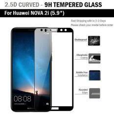 ซื้อ ฟิล์มกันรอย กระจก นิรภัย เต็มจอ เก็บขอบ แนบสนิท For Huawei Nova 2I สีดำ 5 9 Premium Tempered Glass 9H 2 5D Black Huawei ถูก