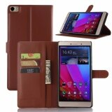 ขาย ซื้อ For Huawei P8 Max Flip Leather With Deluxe Credit Card Flip Cover Case Phone Case Brown Intl