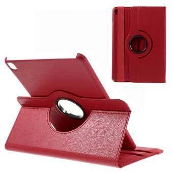 สำหรับ iPad Pro 9.7 นิ้ว Litchi 360 - องศาหมุนแท่นวางที่ทำจากหนัง SHELL Case - สีแดง - INTL-