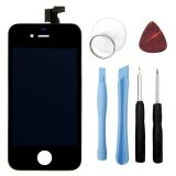 For Iphone 4S Lcd Display Touch Screen Digitizer Bezel Frame With Open Tools Replacement Part Assembly Intl เป็นต้นฉบับ