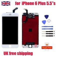 ทบทวน ที่สุด สำหรับ Iphone 6 Plus หน้าจอสัมผัส Lcd Digitizer Display ปุ่ม Home สีขาว 5 5 Uk
