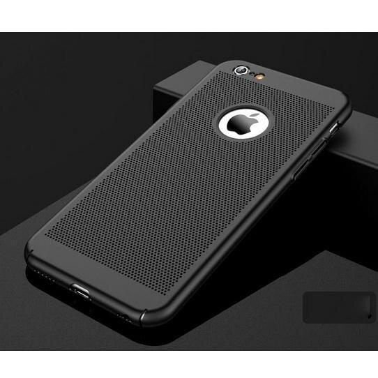 สำหรับ iPhone 6 วินาที/6 4.7 นิ้วกลวงตาข่ายเคสระบายความร้อนพีซีผิวด้านแข็ง - สีดำ - INTL