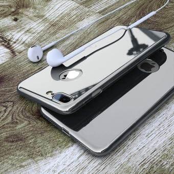 สำหรับ iPhone 7 Plusกรณีหรูหราฮาร์ดพีซีชุบกระจกครอบคลุม 360 องศาสำหรับ iPhone7 Plus โทรศัพท์มือถือปลอก/+ กระจกนิรภัยป้องกันฟิล์ม - นานาชาติ-