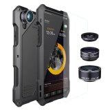 ส่วนลด สำหรับ Iphone X กรณีโทรศัพท์ 3 ใน 1 กันฝุ่นกันน้ำกันน้ำและมุมกว้าง Macro Fisheye Lens ซิลิโคนโลหะอลูมิเนียมปกหลัง กระจกนิรภัย ฮ่องกง