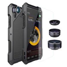 ราคา สำหรับ Iphone X กรณีโทรศัพท์ 3 ใน 1 กันฝุ่นกันน้ำกันน้ำและมุมกว้าง Macro Fisheye Lens ซิลิโคนโลหะอลูมิเนียมปกหลัง กระจกนิรภัย Redpepper Case ออนไลน์