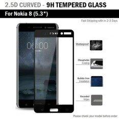 โปรโมชั่น ฟิล์มกันรอย กระจก นิรภัย เต็มจอ สีดำ For Nokia 8 5 3 Premium Tempered Glass 9H 2 5D Black Nokia