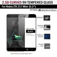 ขาย ซื้อ ฟิล์มกันรอย กระจกนิรภัย เต็มจอFor Nubia Z17 Mini สีดำ 5 2 Premium Tempered Glass 9H 2 5D Black
