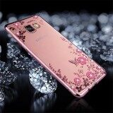 ขาย For Samsung Galaxy A7 2017 A720 Flowers Pattern Diamond Encrusted Electroplating Soft Tpu Protective Cover Case Rose Gold Intl Sunsky ออนไลน์