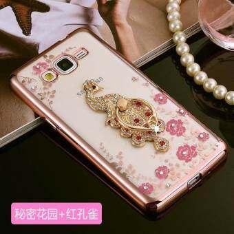 สำหรับซัมซุงกาแล็คซี่ J2 PRIME Soft Phonecase เลดี้โทรศัพท์มือถือกรณีเคสโทรศัพท์ผู้ถือแหวน - INTL