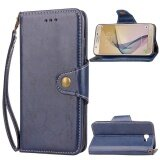 ซื้อ For Samsung Galaxy J7 Prime Leather Wallet Case Flip Stand Full Body Cover Blue Intl ใน จีน