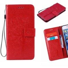 ขาย ซื้อ ออนไลน์ For Samsung Galaxy J7 Prime On7 2016 5 5 Case Cover Classic Fashion Style Wallet Flip Stand Pu Leather Mobile Phone Case Kt710 Red Intl