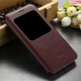 ขาย For Samsung Galaxy Note 4 View Window Flip Leather Cover Phone Case Brown Intl จีน