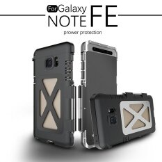 ซื้อ For Samsung Galaxy Note Fe Case Aluminum Full Protective Shockproof Steel Metal Flip Case For Galaxy Note Fe Phone Stainless Cover Intl